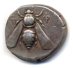 Honey Bee on Ancient Coins